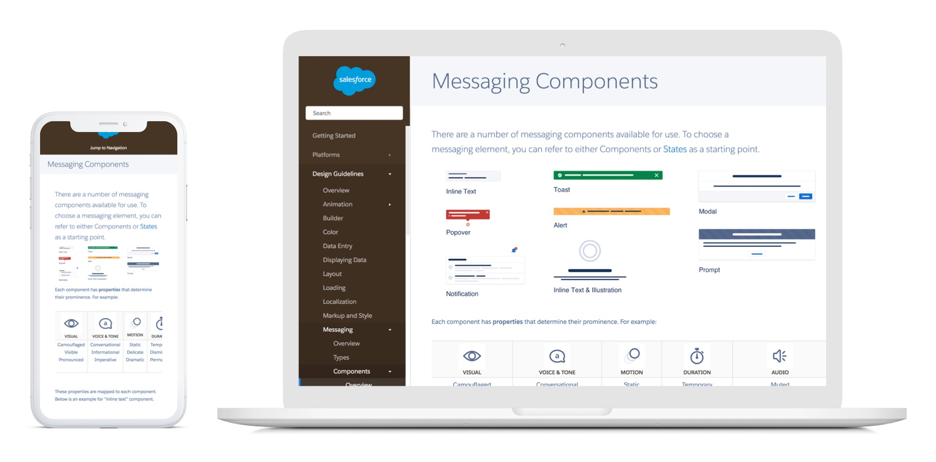 Integrating the messaging framework back into Salesforce's Lightning Design System